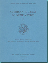 USA - American Numismatic Society - American Journal of Numismatics