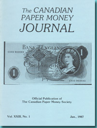 Revista The Canadian Paper Money Journal